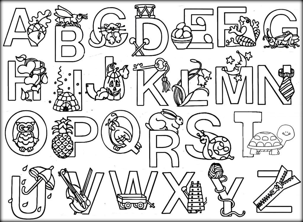 Coloring ~ Coloring Alphabet Book Printable Pdf Pages In Alphabet Coloring Worksheets Pdf