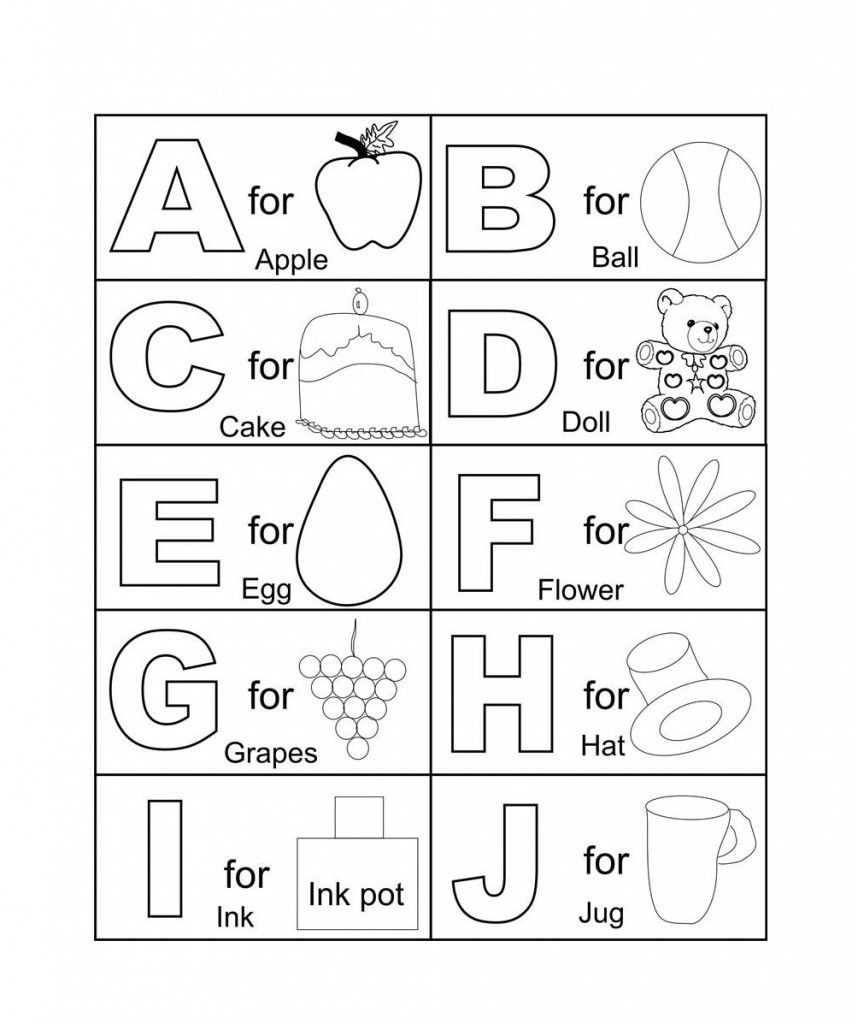 Coloring ~ Coloring Freetable Alphabet Pages For Kids Best inside Alphabet Colouring Worksheets For Kindergarten