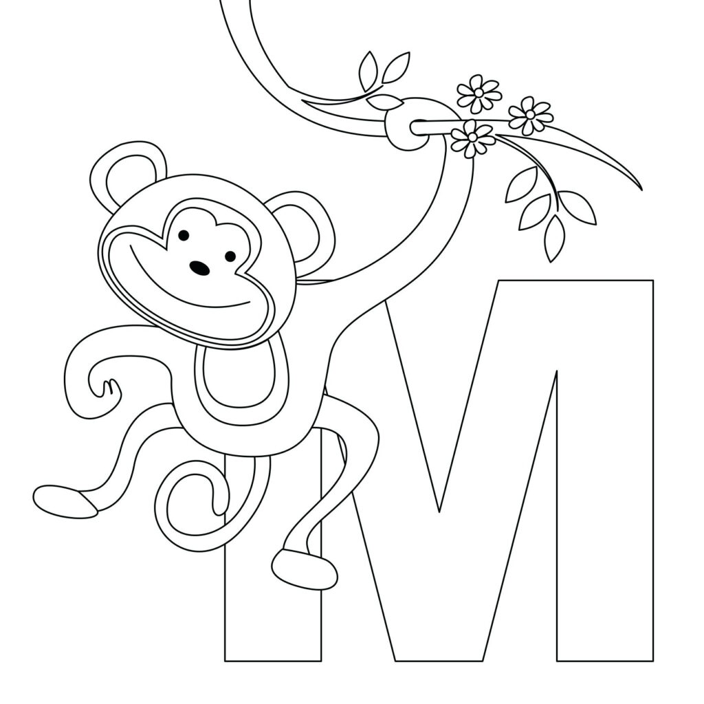 Coloring Page For Kids: Excelent Alphabet Coloring Book In Alphabet Coloring Worksheets Pdf
