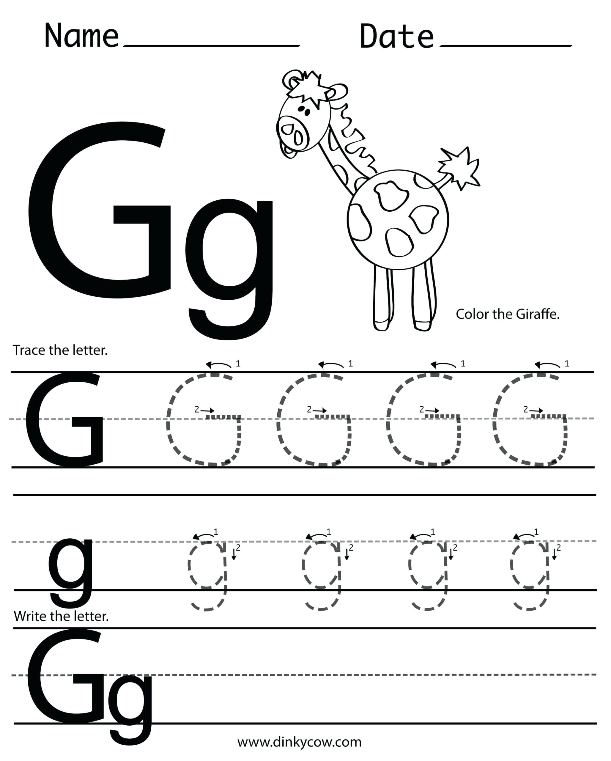 Coloring Pages : Incredible Letter G Coloring Pages Picture pertaining to Letter G Worksheets For Preschool