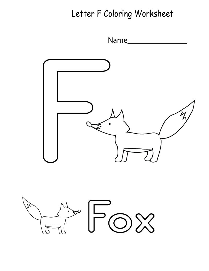 Coloring Pages : Theer Big Coloring Page Preschool Printable pertaining to Letter F Worksheets Free