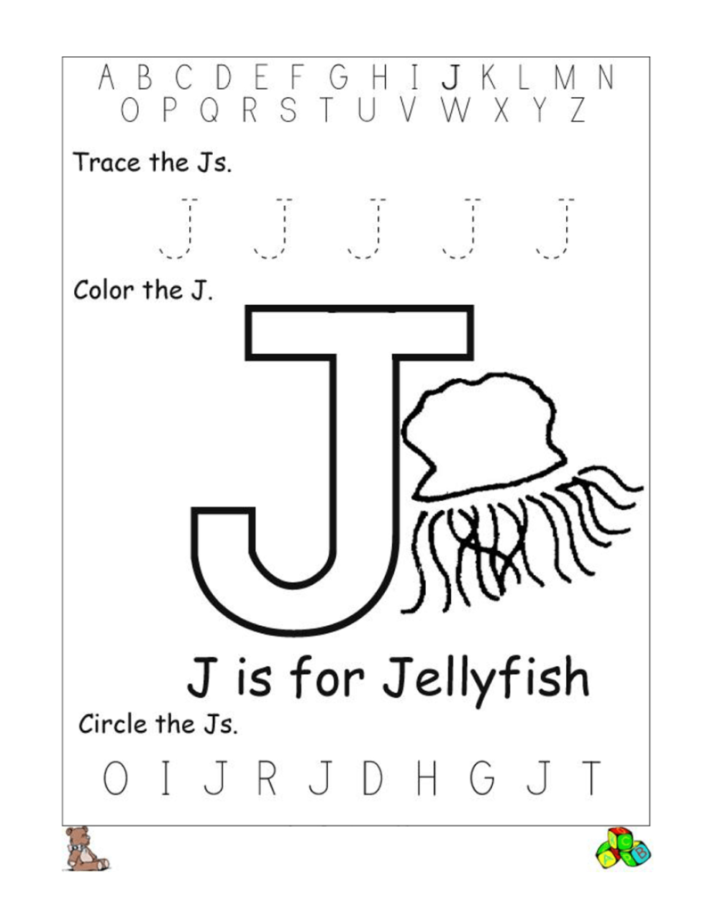 Common Worksheets Letter J Worksheets For Kindergarten Pertaining To Alphabet J Worksheets