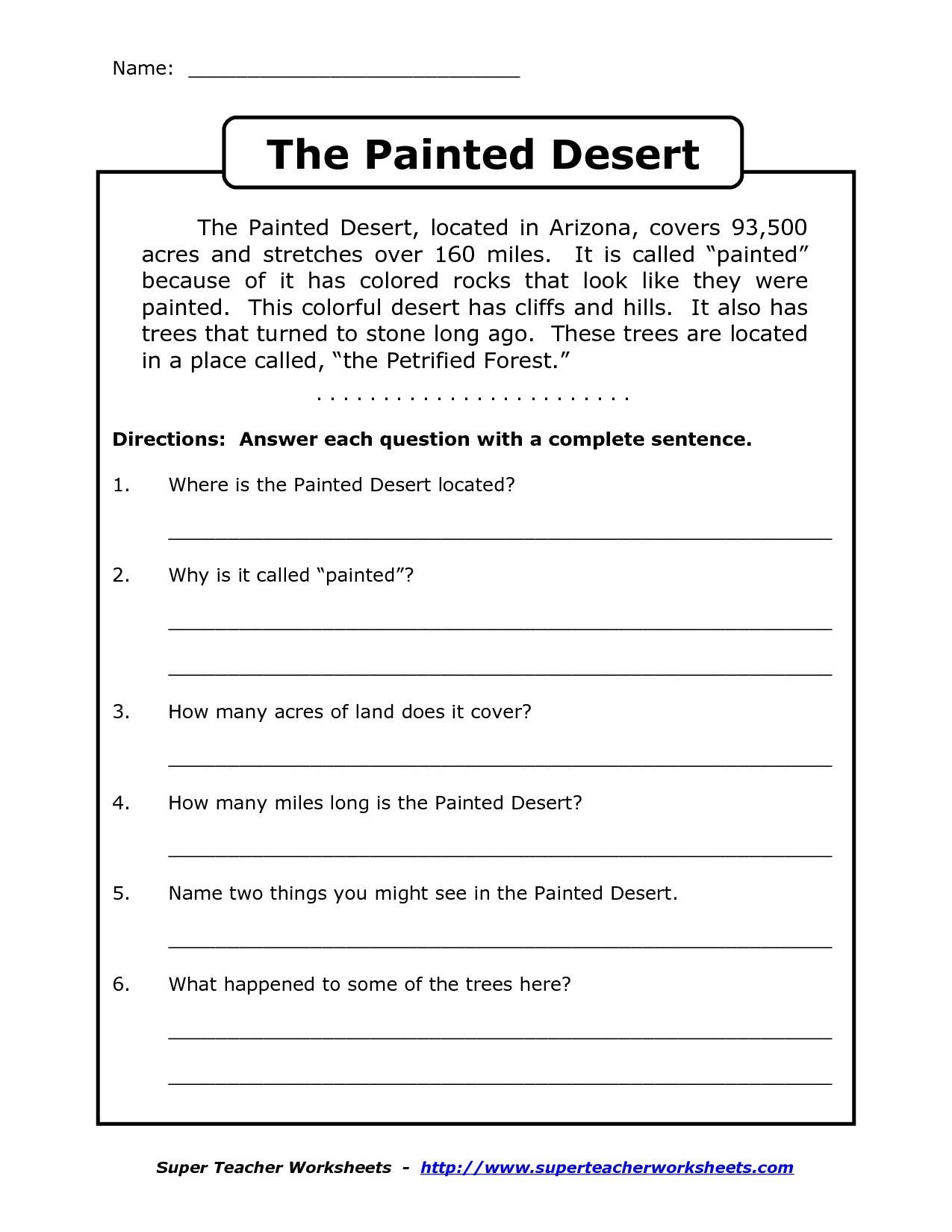 Comprehension Worksheet For 1St Grade (Y2/p3): The Painted with regard to Letter T Worksheets For First Grade