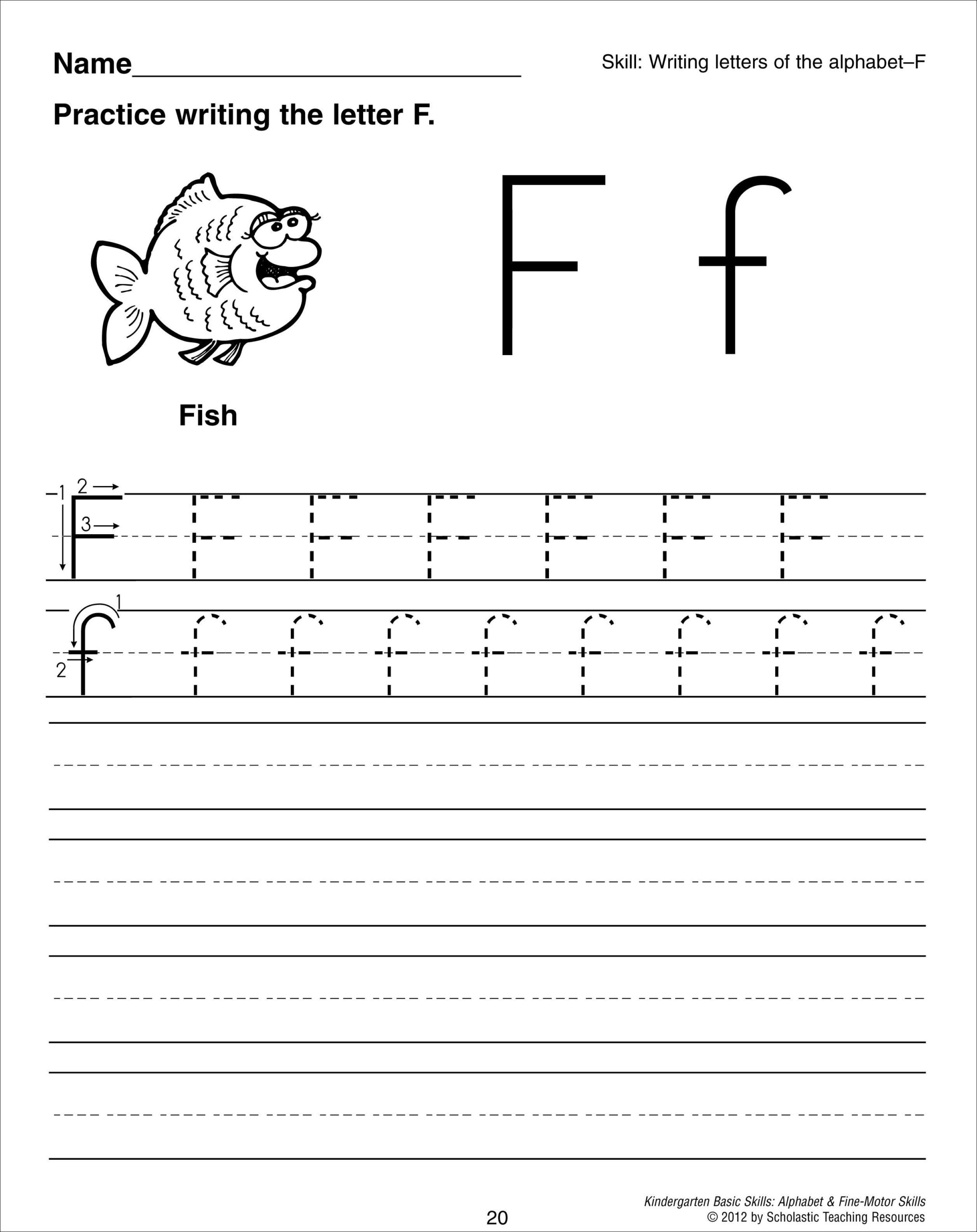 Cursive F New Collection Of Handwriting Worksheets For The intended for Letter F Worksheets For Grade 1
