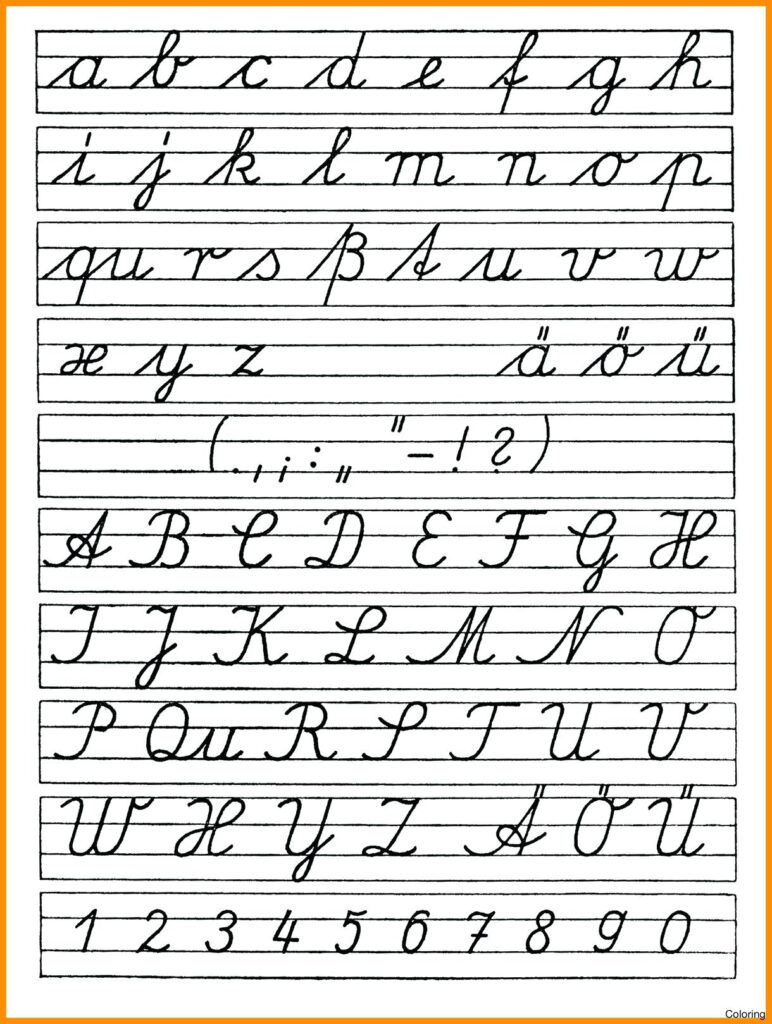 Cursive Letter Worksheet Printables Cursive Alphabet In Alphabet Handwriting Worksheets Printable