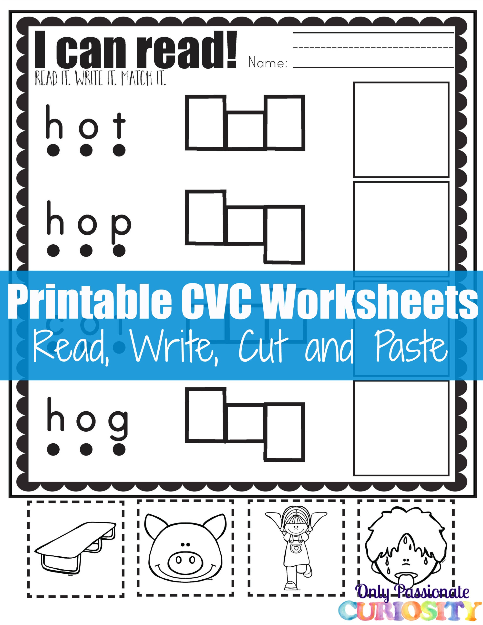 Cvc Worksheets: Cut And Paste Letter O - Only Passionate inside Letter H Worksheets Cut And Paste