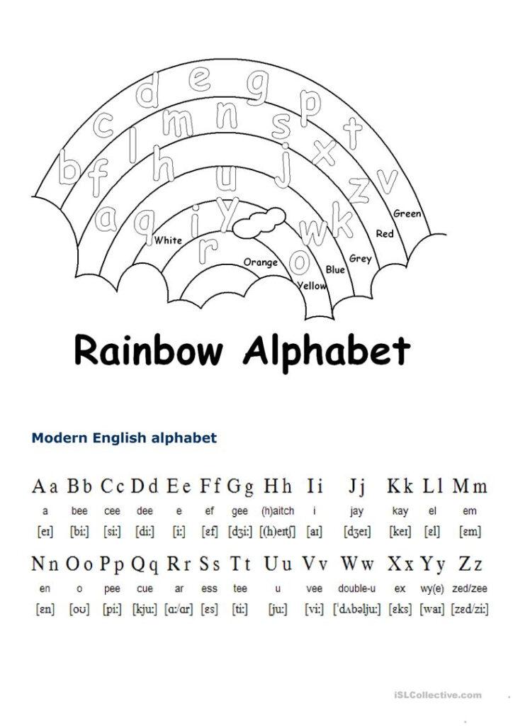 English Alphabet   English Esl Worksheets Throughout The Alphabet Worksheets Esl