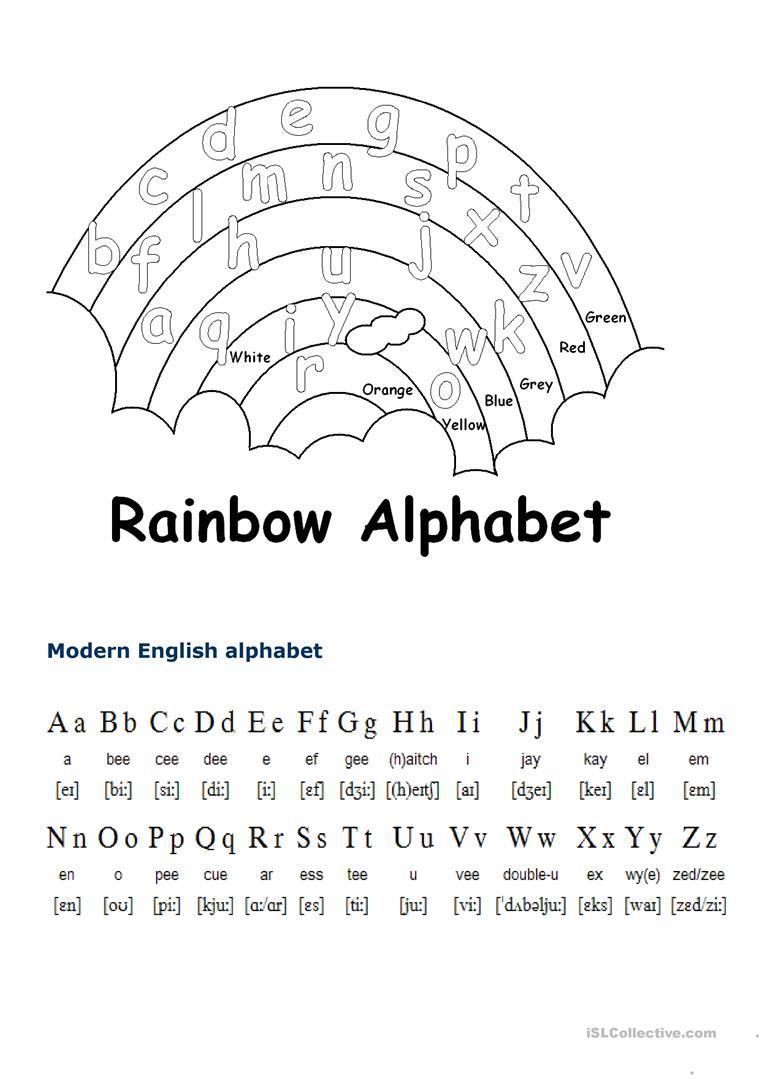 English Alphabet - English Esl Worksheets throughout The Alphabet Worksheets Esl