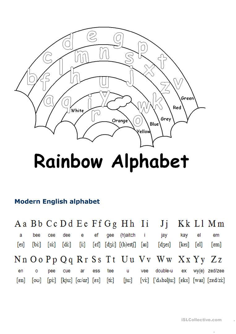 English Alphabet - English Esl Worksheets within Alphabet Worksheets English