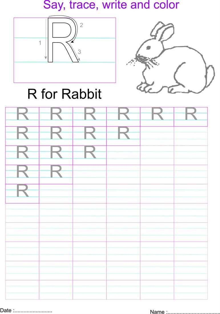 English Capital Letter 'r' Worksheet intended for Letter R Worksheets Pdf