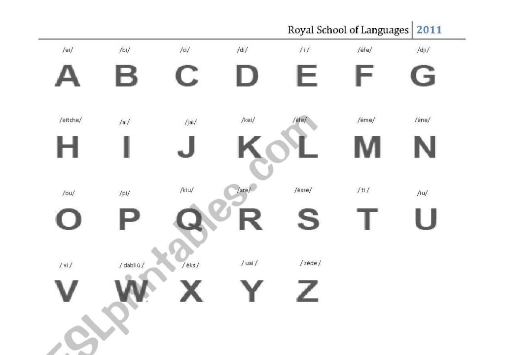 English Worksheets: The Alphabet Spelling Inside Alphabet Spelling Worksheets