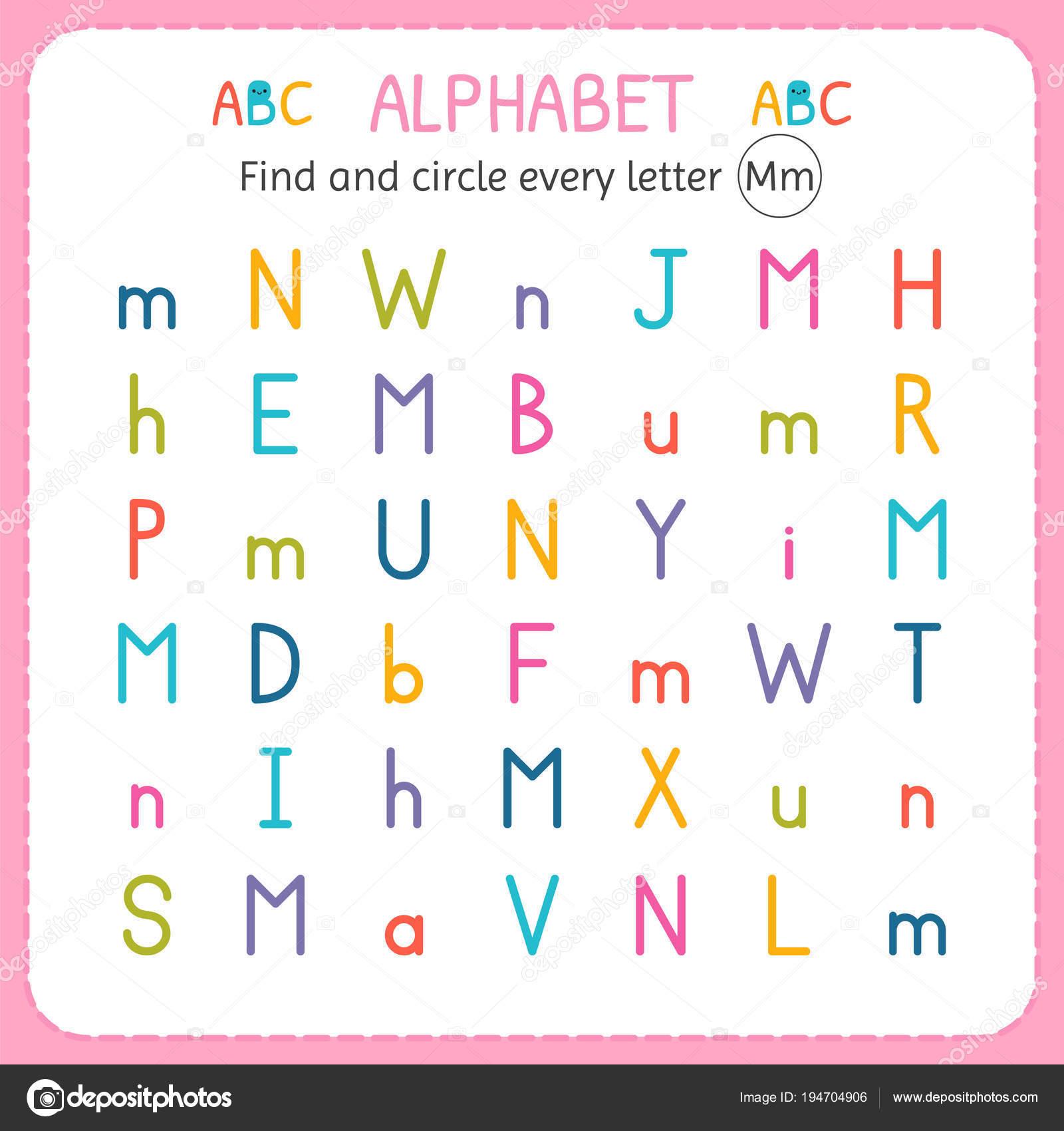 Find And Circle Every Letter M. Worksheet For Kindergarten with regard to Letter M Worksheets For Kinder