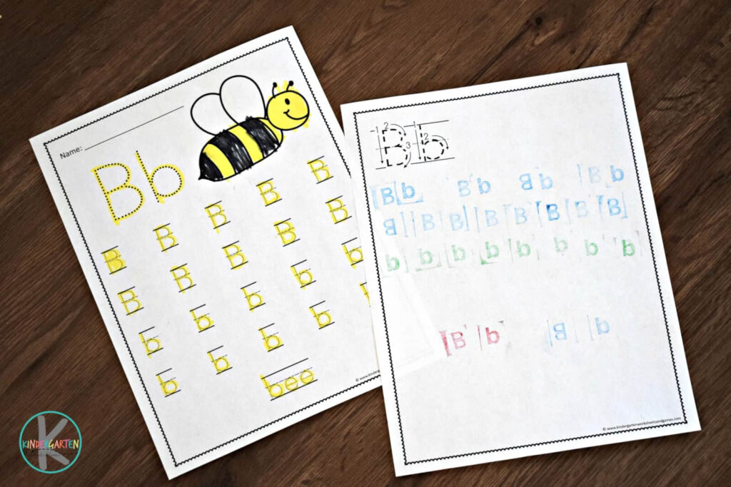 Free A To Z Letter Practice – Kindergarten Worksheets And Games With A Z Alphabet Worksheets Kindergarten