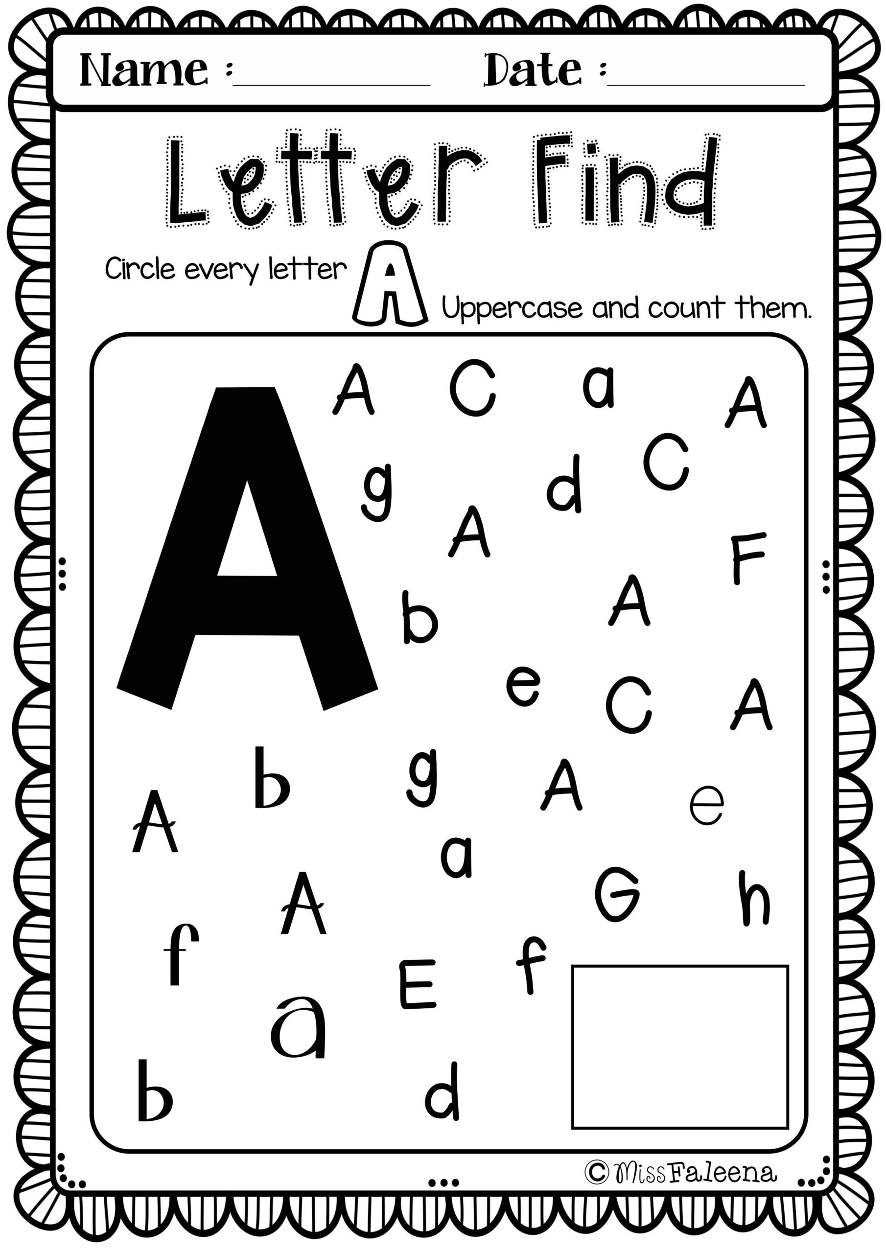 Free Alphabet Letter Of The Week A | Alphabet Worksheets within Alphabet Homework Worksheets