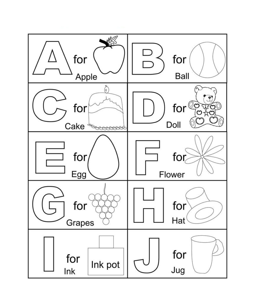 Free Coloring Pages Alphabet Printable Throughout Alphabet Colouring Worksheets