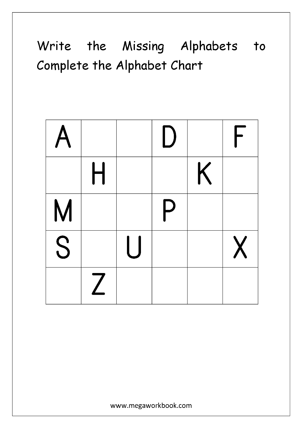 Free English Worksheets - Alphabetical Sequence for Alphabet Worksheets English