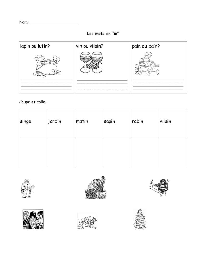 Free French Worksheet  Grade 1, Grade 2, Grade 3. Fsl, Core With Regard To French Alphabet Worksheets Grade 1