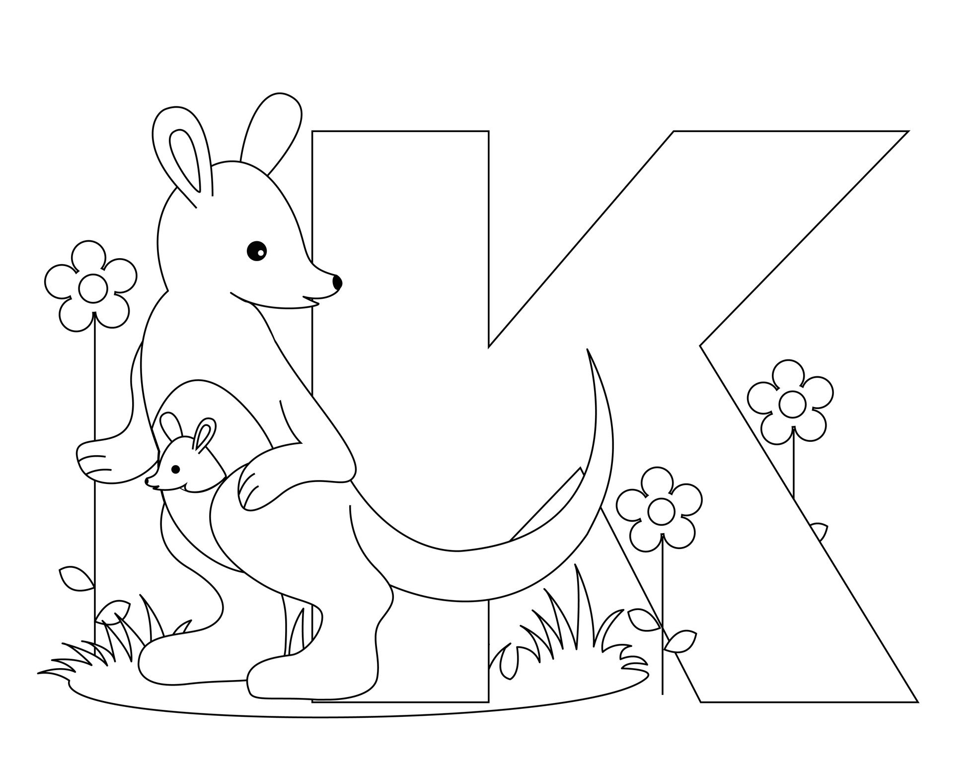 Free Kindergarten Alphabet Worksheets | Animal Alphabet within Letter K Worksheets For Kinder