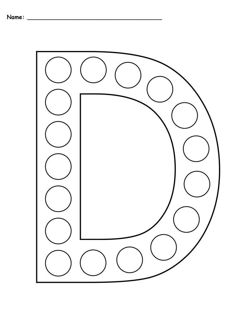 Free Letter D Do-A-Dot Printables - Uppercase & Lowercase for Letter D Worksheets For Pre K