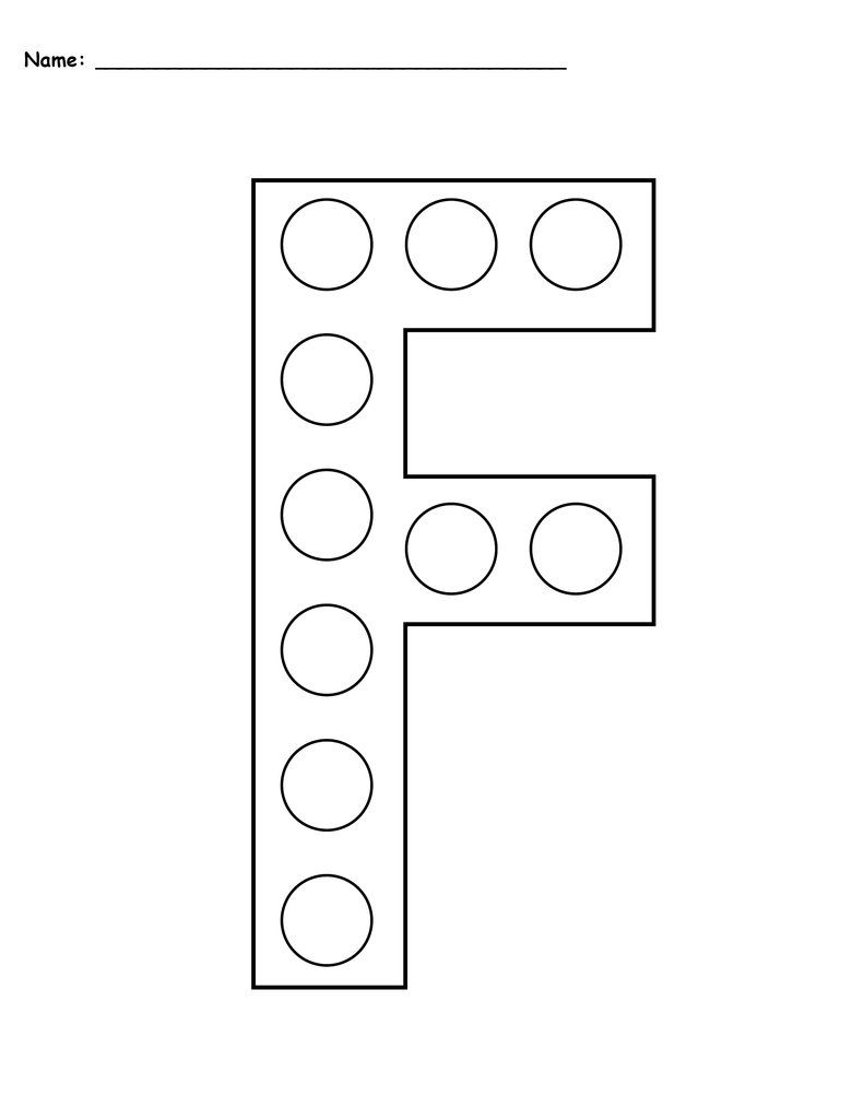 Free Letter F Do A Dot Printables   Uppercase & Lowercase Within Letter F Worksheets Prek