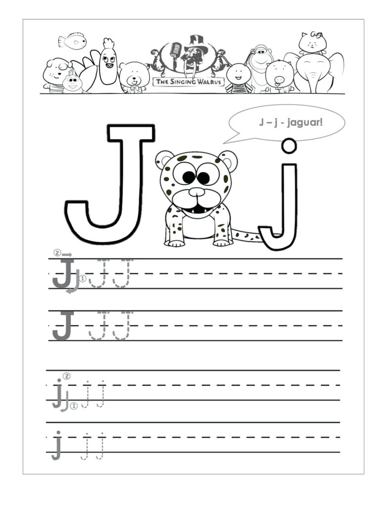 Free Letter J Coloring Pages – Shoppage.co In Letter J Worksheets