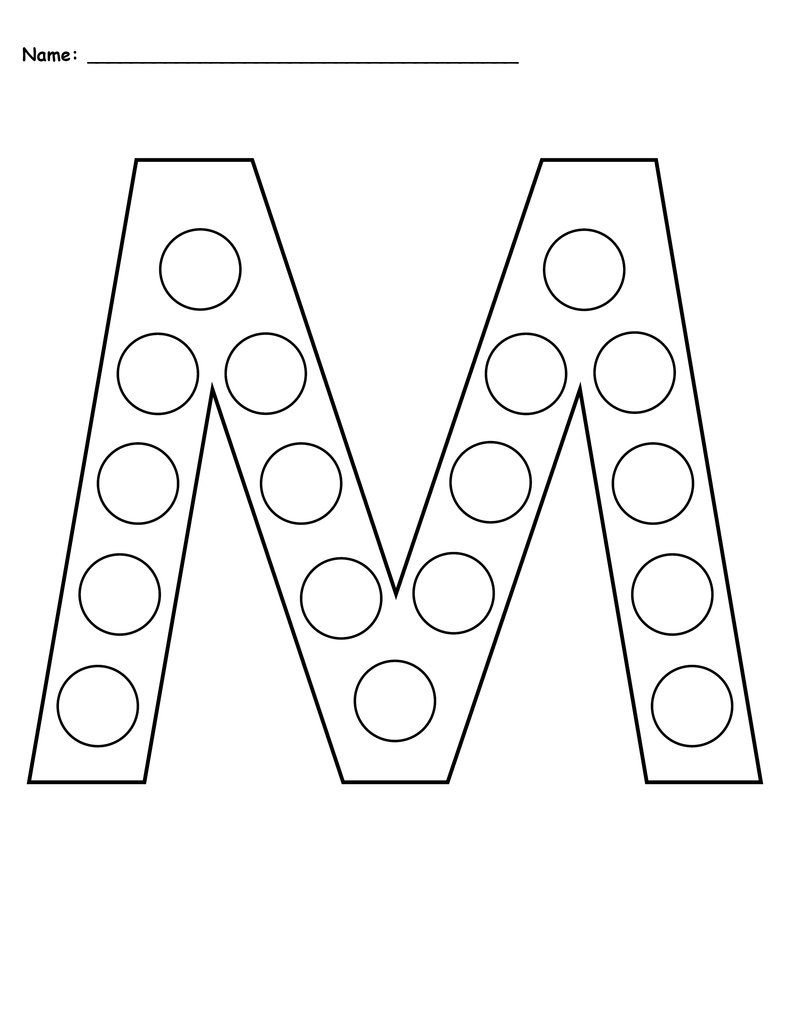 Free Letter M Do-A-Dot Printables - Uppercase & Lowercase in Letter M Worksheets For Pre K