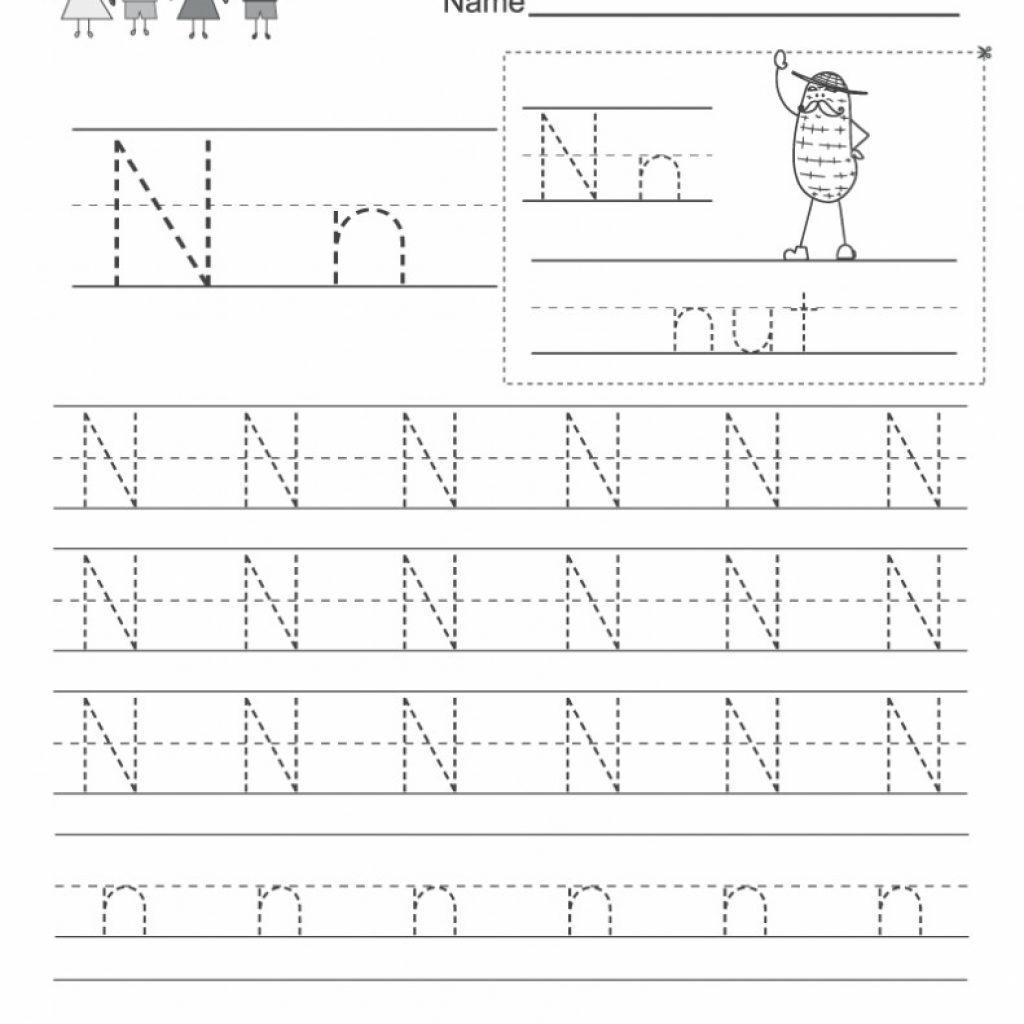 Free Letter N Worksheets Pictures   Alphabet Free Preschool In Letter N Worksheets Prek