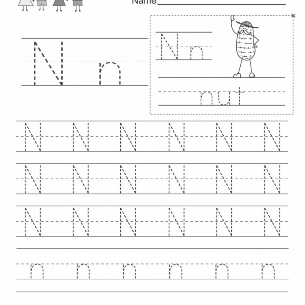 Free Letter N Worksheets Pictures   Alphabet Free Preschool With Letter Nn Worksheets