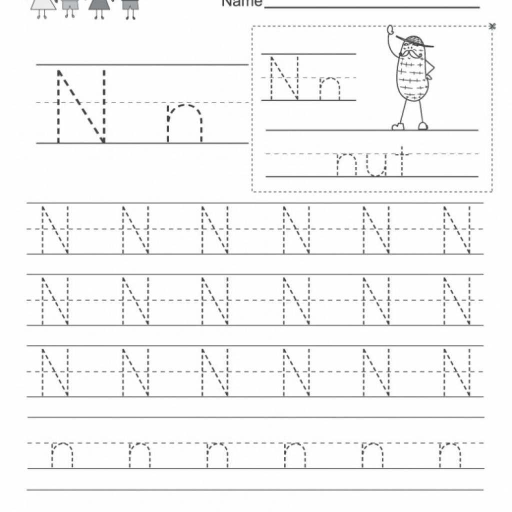 Free Letter N Worksheets Pictures - Alphabet Free Preschool with Letter Nn Worksheets