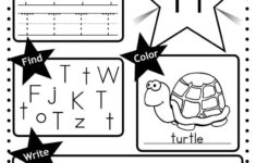 Free Letter T Worksheet: Tracing, Coloring, Writing & More for Letter T Worksheets Prek
