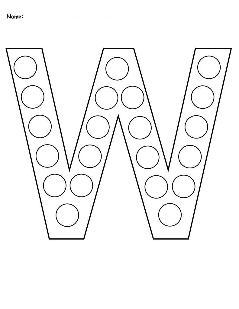 Free Letter W Do-A-Dot Printables - Uppercase & Lowercase inside Letter W Worksheets For Pre K