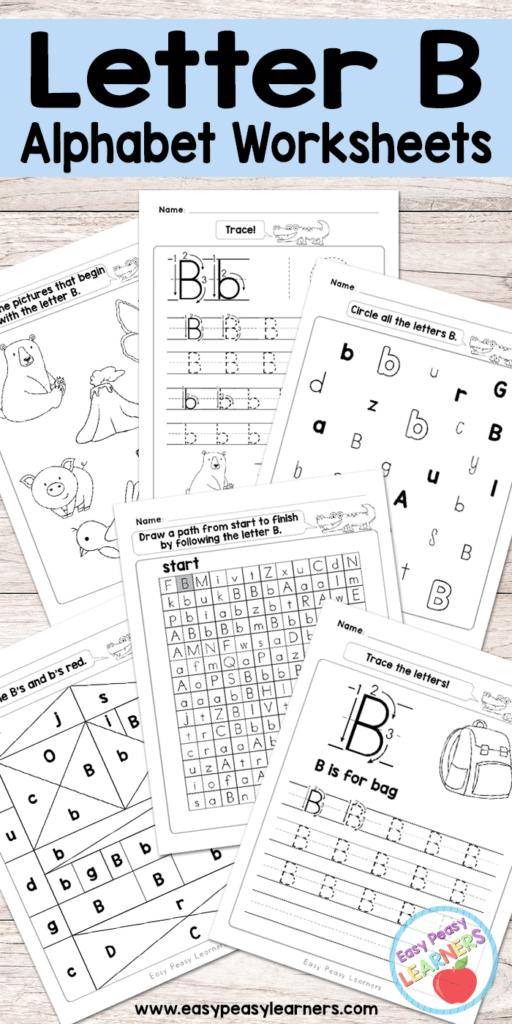 Free Printable Letter B Worksheets   Alphabet Worksheets Pertaining To Letter B Worksheets For Preschool Free