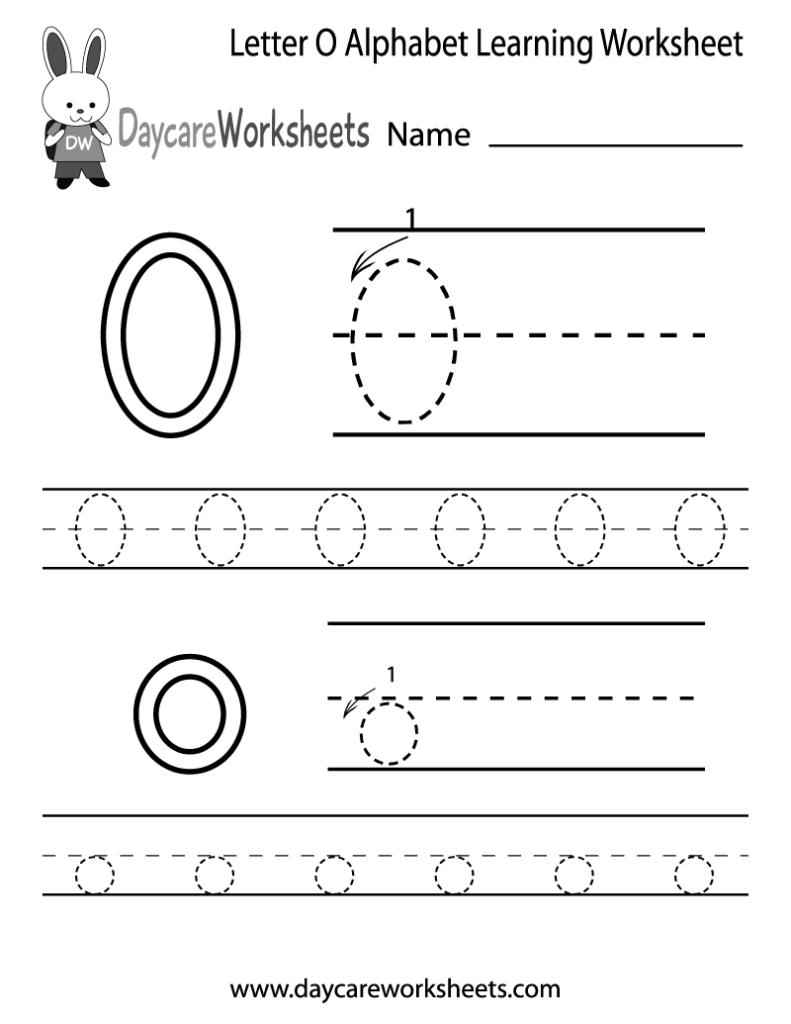 Free Printable Letter O Alphabet Learning Worksheet For Within Letter O Worksheets For Kindergarten Free