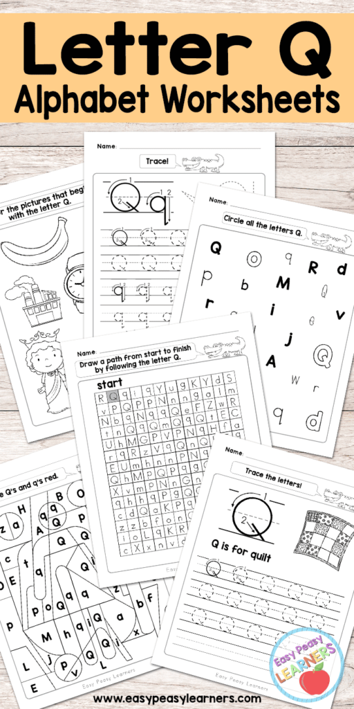 Free Printable Letter Q Worksheets   Alphabet Worksheets With Letter O Worksheets Free Printable