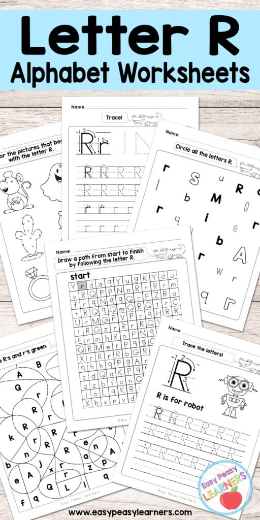 Free Printable Letter R Worksheets   Alphabet Worksheets Inside Letter R Worksheets Preschool Free