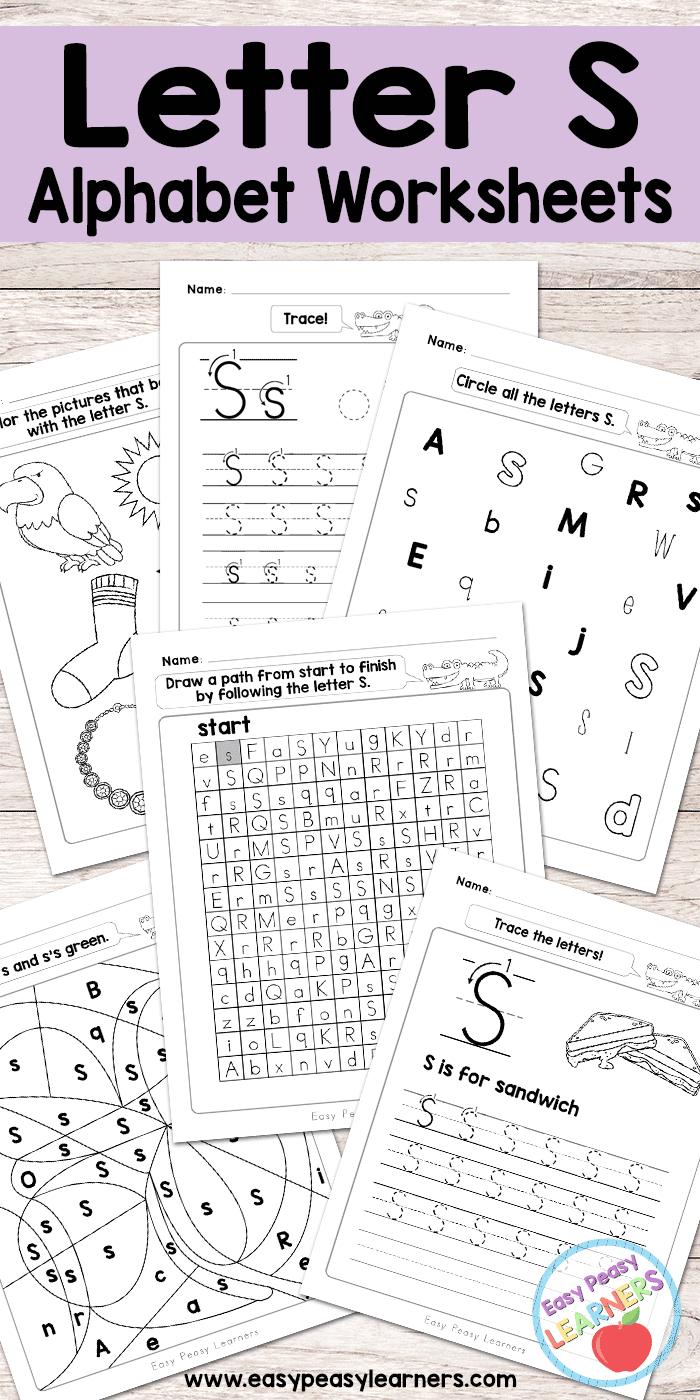 Free Printable Letter S Worksheets - Alphabet Worksheets in Letter S Worksheets Printable
