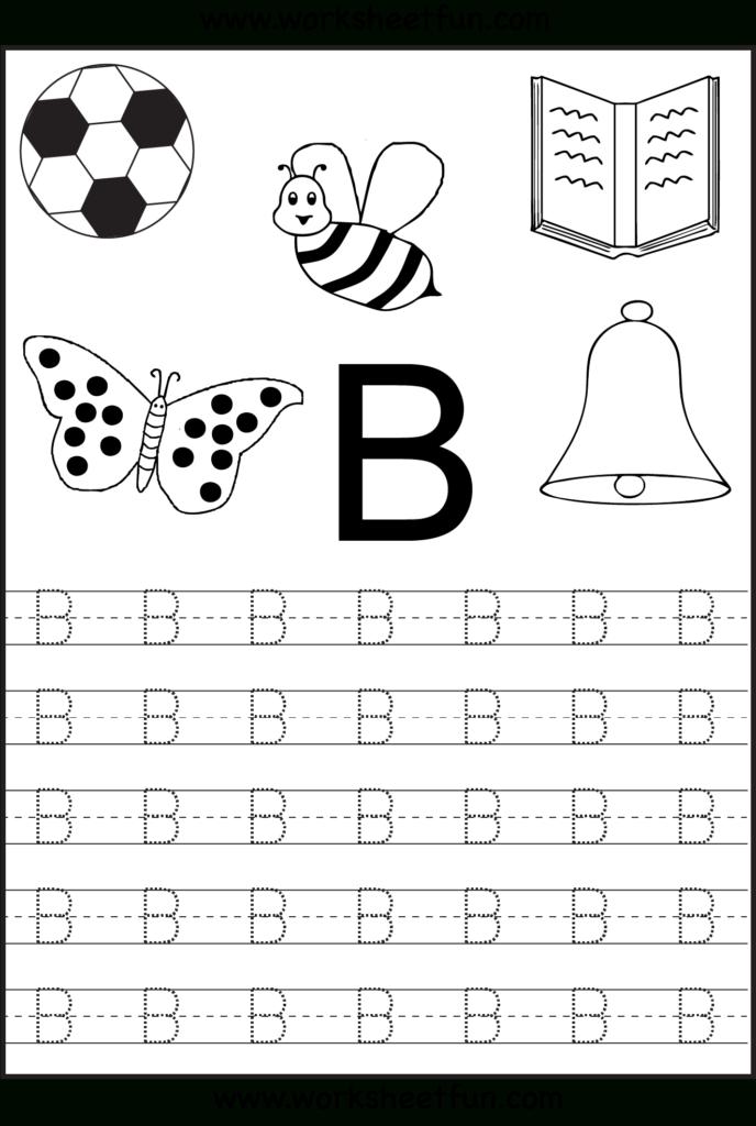 Free Printable Letter Tracing Worksheets For Kindergarten In Letter B Worksheets For Prek