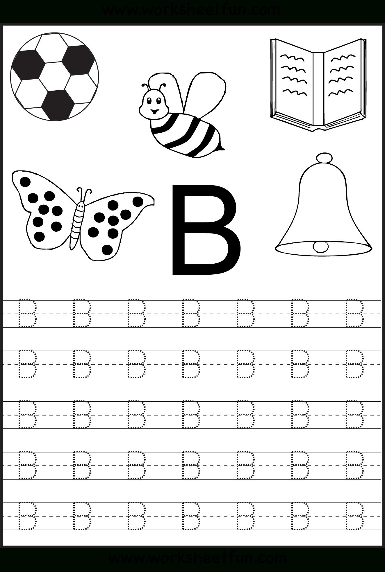 Free Printable Letter Tracing Worksheets For Kindergarten inside Alphabet Worksheets Kindergarten Free