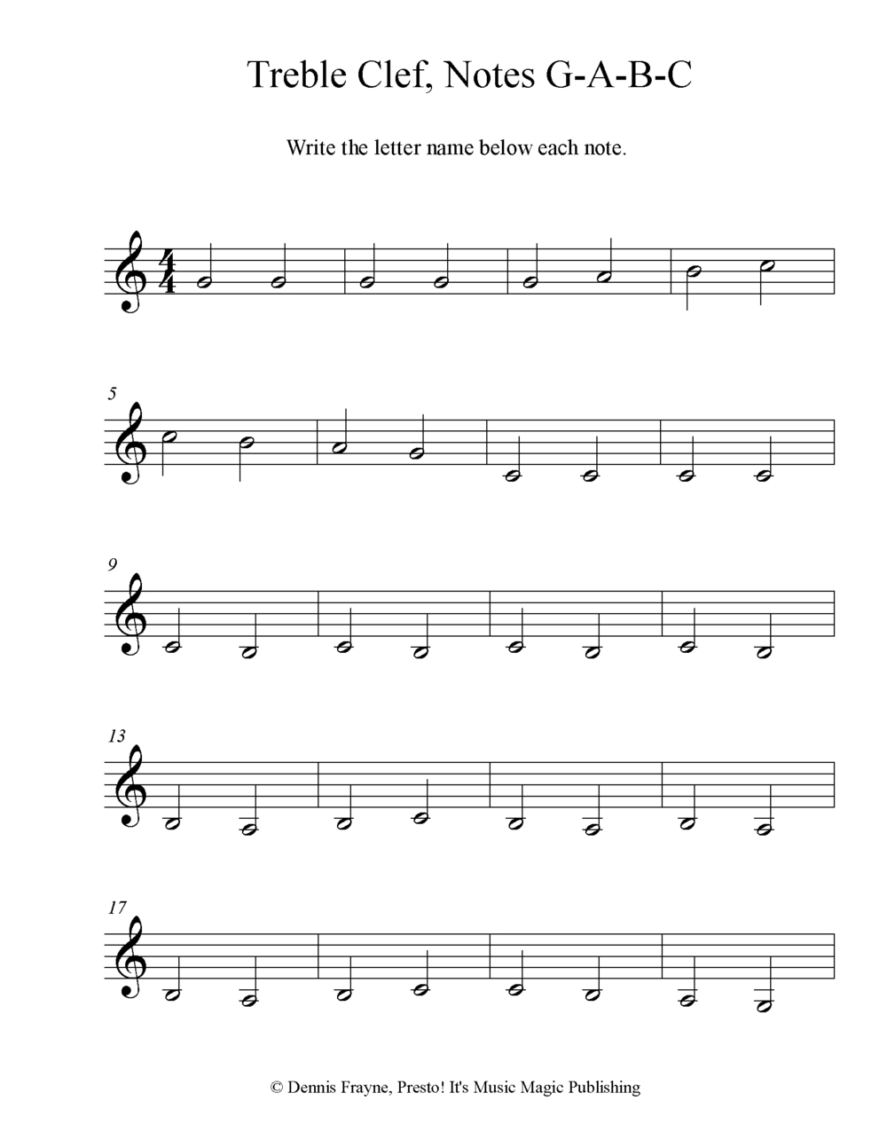 Free! Printable Music Note Naming Worksheets — Presto! It's intended for Letter B Worksheets Pdf