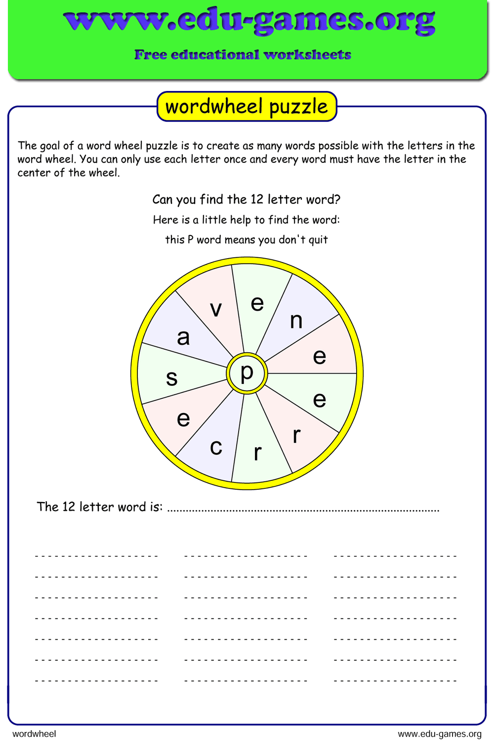 Free Printable Word Wheel Maker, Includes A List Of Words intended for Alphabet Worksheets Generator