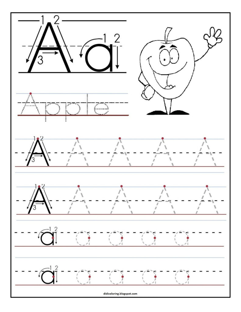 Free Printable Worksheet Letter A For Your Child To Learn Inside Letter A Alphabet Worksheets
