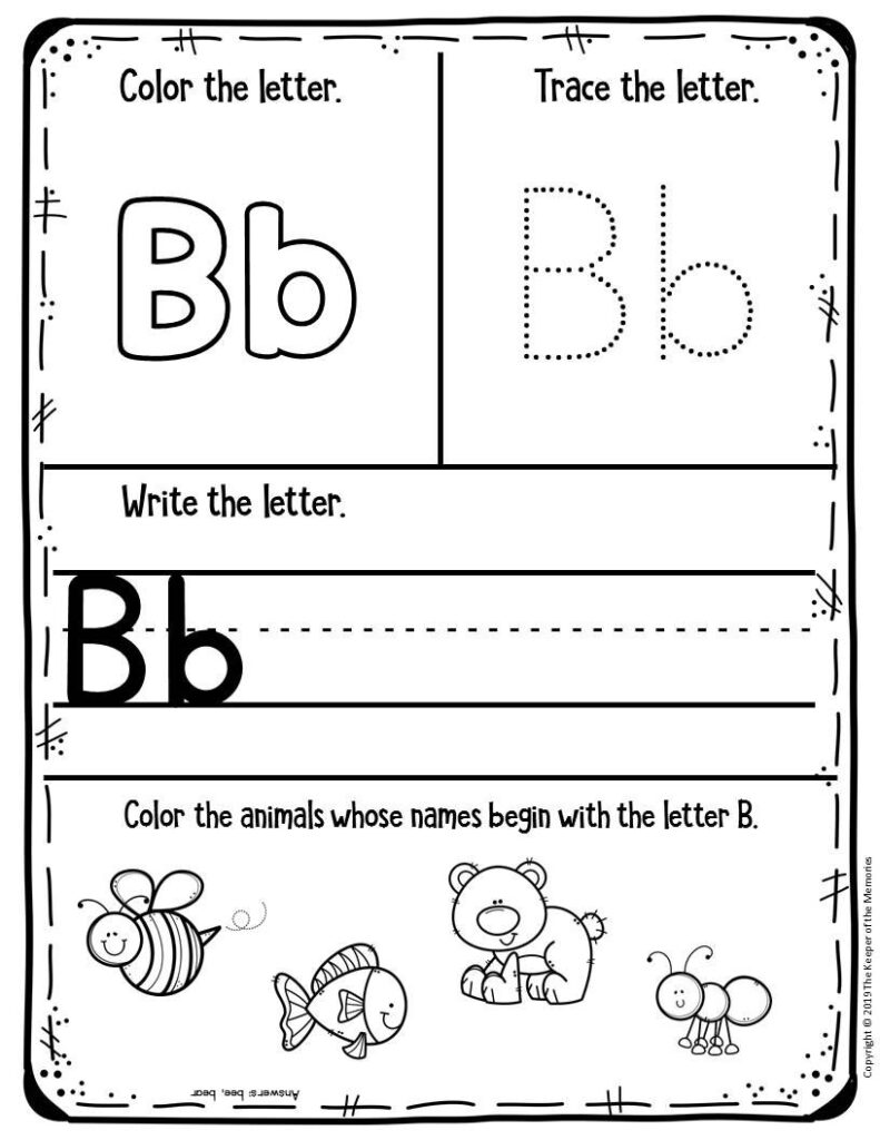 Free Printable Worksheets For Preschool & Kindergarten In Free Printable Pre K Alphabet Worksheets