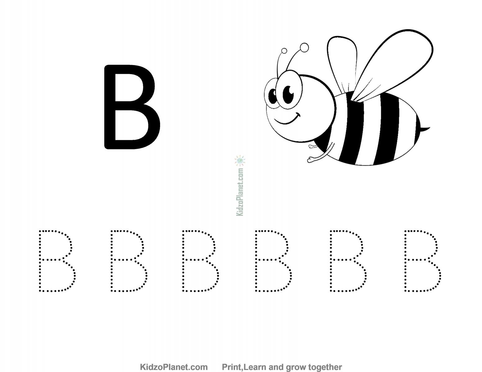 Free Worksheet For Kids , Kidzoplanet Printable Worksheets within Letter B Worksheets For Preschool Free