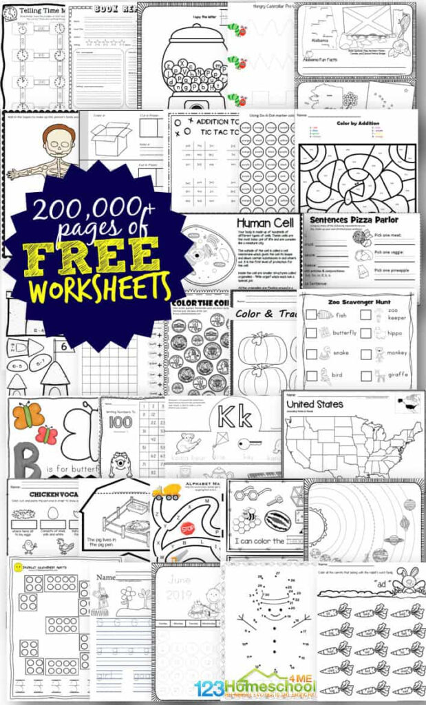 Free Worksheets For Prek 12Th | 123 Homeschool 4 Me Regarding Free Alphabet Worksheets For 5 Year Olds