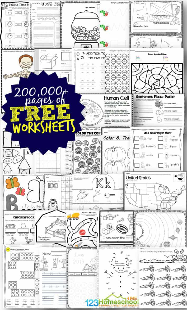 Free Worksheets For Prek-12Th | 123 Homeschool 4 Me regarding Free Alphabet Worksheets For 5 Year Olds