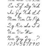 Full Cursive Alphabet Free Printable Cursive Alphabet Pertaining To Alphabet Cursive Worksheets Free Printable