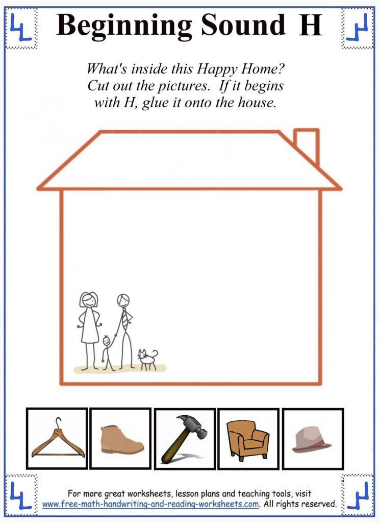 H Letter Worksheets For Letter H Worksheets Cut And Paste