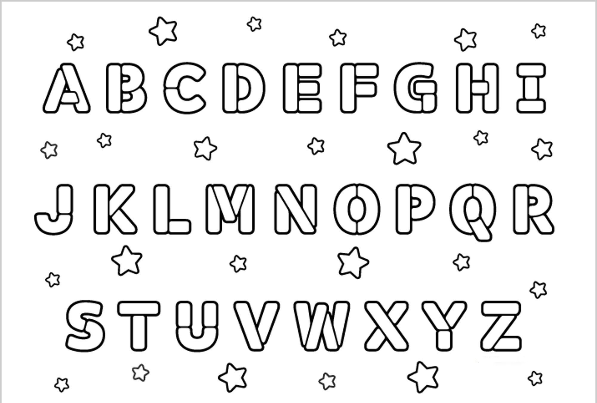 Introduce The Alphabet With These Alphabet Coloring Pages regarding Alphabet Coloring Worksheets Pdf