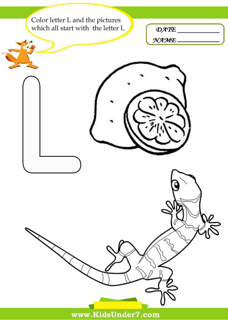 Kids Under 7: Letter L Worksheets And Coloring Pages Pertaining To Letter L Worksheets For Toddlers