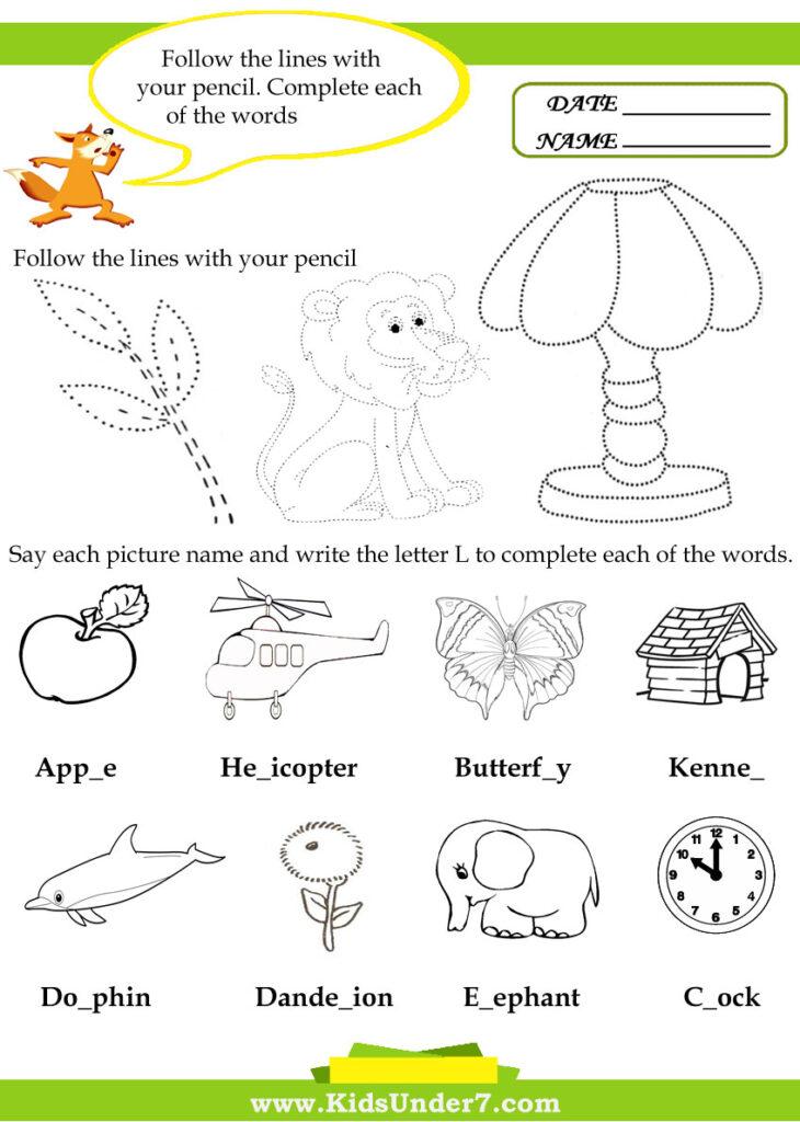 Kids Under 7: Letter L Worksheets Throughout Letter Ll Worksheets